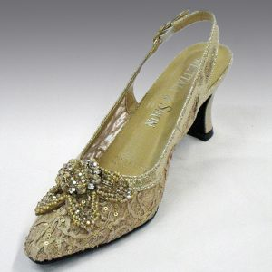 H73 LACE SLINGBACK taupe