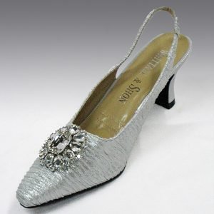 H76 CUSHION SLING BACK silver